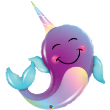Narwhal Large Foil Balloon 1pc